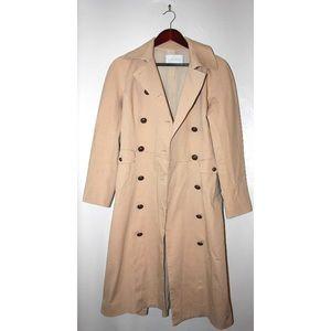 CHAIKEN Jackets & Coats - Chaiken Runway Khaki Long Tailored Trench Coat